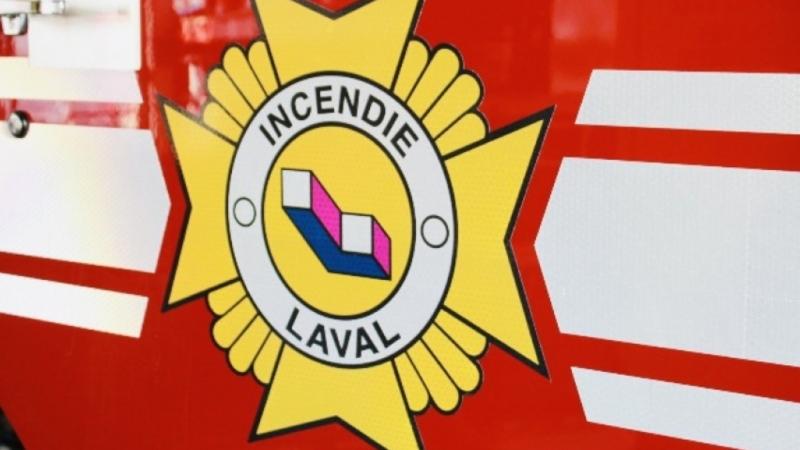 Incendie Laval file photo. SOURCE Association des Pompiers de Laval