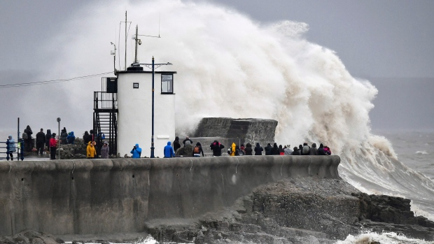 Enormous waves race across Atlantic, U.K. braces for storm