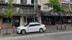 Four people were stabbed at the Cabana Lounge at around 3 a.m. Saturday morning, and are now in hospital with non-life threatening injuries, according to Vancouver police. (Google Street View)
