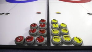 Curling rocks are shown Friday, Feb. 10, 2017, during a media demonstration the day before the opening ceremonies of the USA Curling Nationals in Everett, Wash. (THE CANADIAN PRESS/AP, Ted S. Warren)
