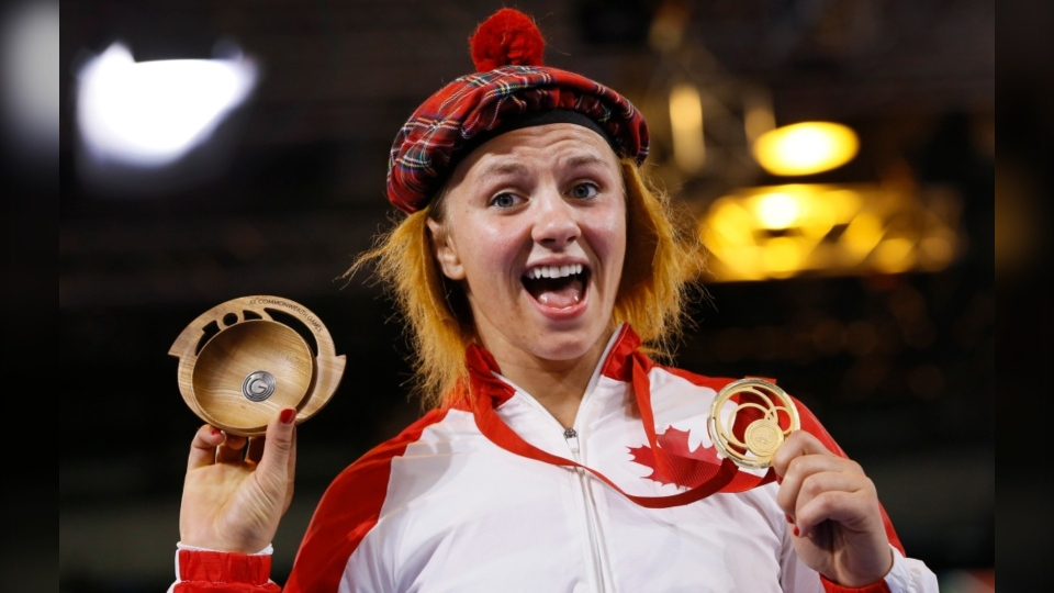 Erica Wiebe won gold at the 2016 Olympics in Brazil as well as at the 2014 and 2018 Commonwealth Games.