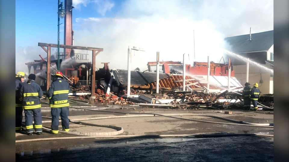 The historic King Edward Hotel in Pincher Creek was destroyed by fire early Saturday.