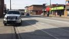 Location on Wyandotte Street where an elderly pedestrian was struck on Feb. 15, 2020. (Ricardo Veneza/CTV Windsor)