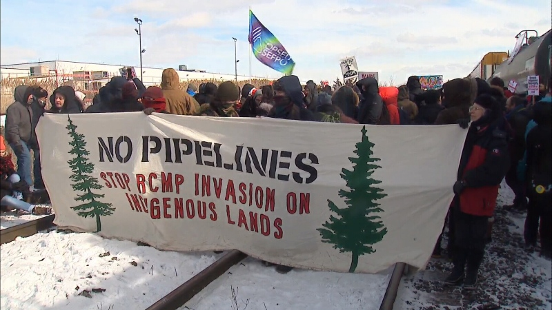 protest, Vaughan rail yard