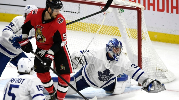 Jack Campbell wins third game for Toronto as Maple Leafs down Senators 4-2