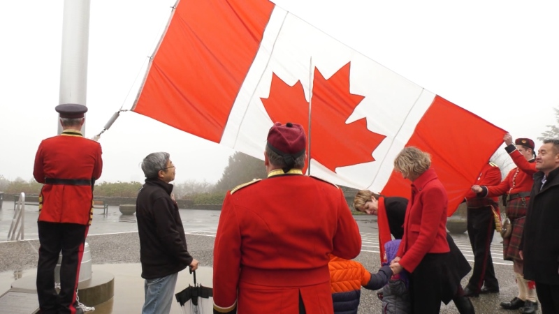 Observing National Flag of Canada Day