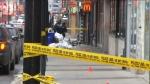 police tape at shooting scene