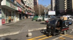 The streets of Chongqing, China are largely empty as a quarantine continues on Sunday, Feb. 16, 2020. (Kai Wood)
