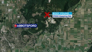 The Integrated Homicide Investigation Team has taken over an investigation in Abbotsford after a dead body was found beside Keeping Road, near Sumas Mountain Road. (CTV)