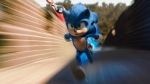 "This image released by Paramount Pictures shows Sonic, voiced by Ben Schwartz, in a scene from ""Sonic the Hedgehog ."" (Paramount Pictures/Sega of America via AP)"