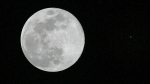 The full Moon is seen in conjunction with the planet Mars, at right, in the sky over Tyler, Texas, Sunday, Dec. 23, 2007. (AP Photo/Dr. Scott M. Lieberman)