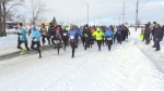 Dozens of runners took to the streets of Sudbury for the Hypothermic 1/2 Marathon.