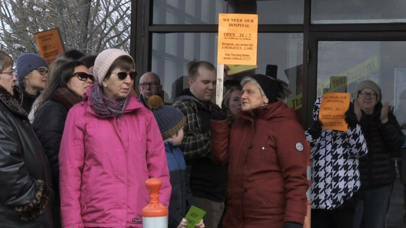 N.B. protests healthcare reforms