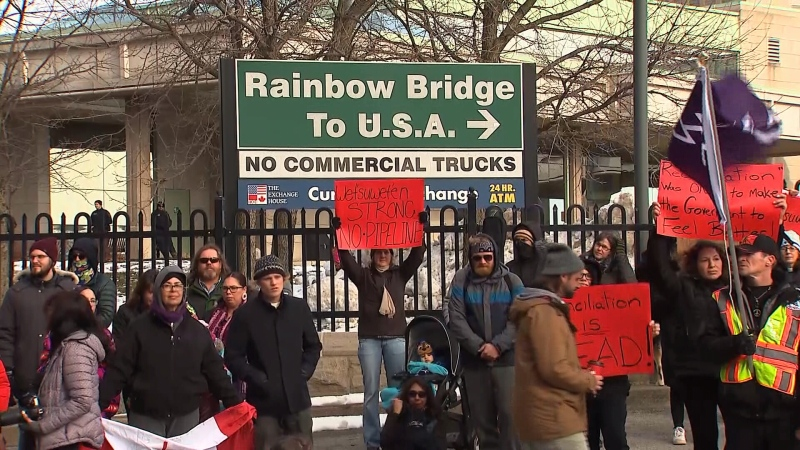 Rainbow bridge protest