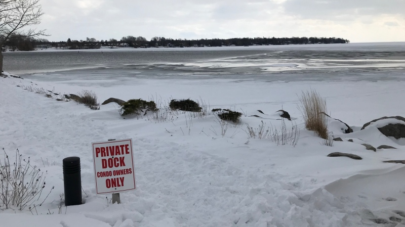 One man has died after his snowmobile crashed through Lake Simcoe, near Ramara Township, ON on February 16, 2020