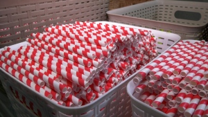 Paper straws are made at Green Supply Management Inc. in Toronto.
