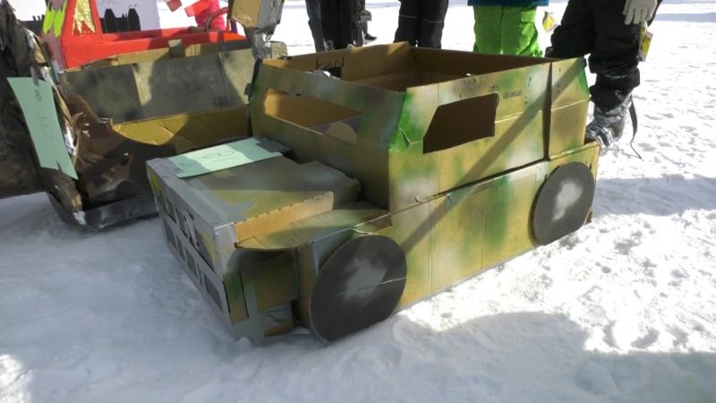 Cardboard toboggan race