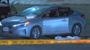Police are investigating a double shooting outside the Promenade Mall on Sunday, Feb. 16, 2020.