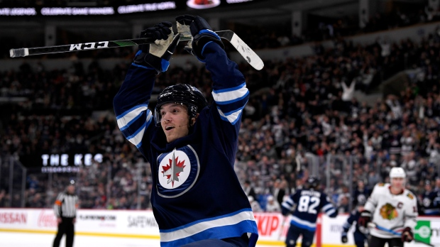 Nathan Beaulieu's first goal of the season lifts Jets over Blackhawks