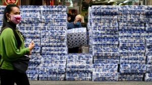 Toilet paper has become hot commodity in Hong Kong thanks to panic-buying amid the coronavirus outbreak. (AFP)