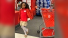Brayden Lawrence celebrated her 8th birthday with her friends at a Target store in Atlanta. (@RikDrip/Twitter/CNN)