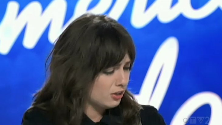 Saveria on American Idol