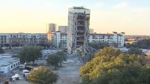 Implosion fails to bring down building