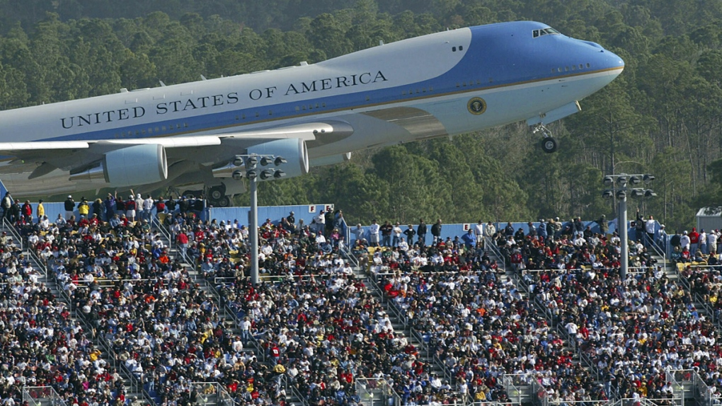 Air Force One at Daytona in 2004