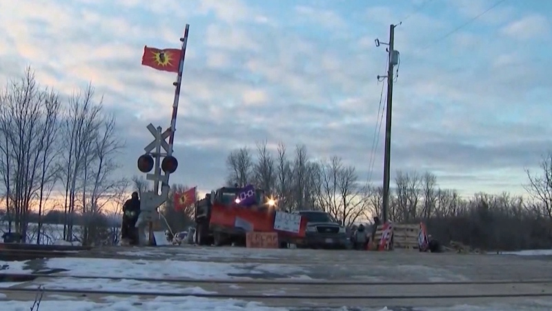 Rail blockade