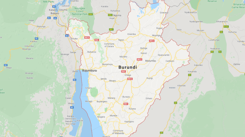 Map of Burundi. (Google Maps)