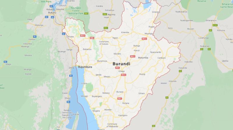 Map of Burundi. (Google Maps)