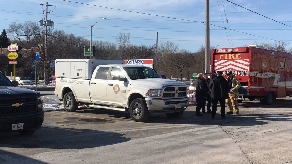 OFM on scene at 920 Commissioners Road on Monday, Feb. 17, 2020. (Gerry Dewan / CTV London)