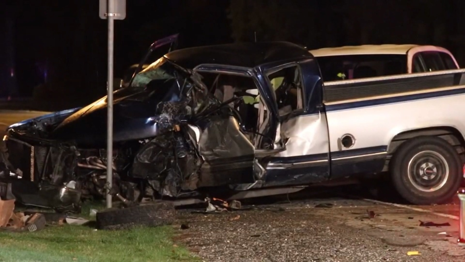 A crash in Surrey sent one man to hospital in critical condition on Feb. 16, 2020.