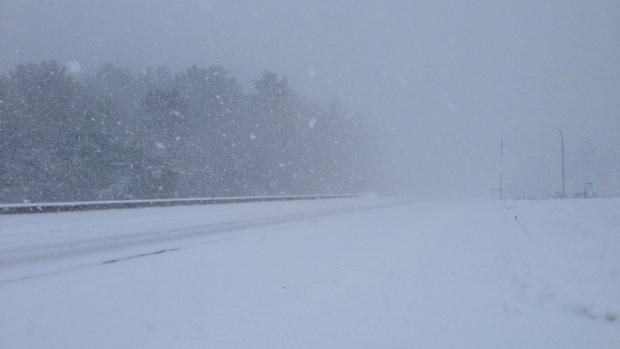 Winter snow storm on the way overnight