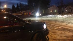 Police respond to a shooting in the 200 block of Avenue S North on Sat., Feb. 15. (Ryan Fletcher/CTV Saskatoon)