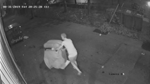 Surveillance video of illegal dumping at the Shon Yee Benevolent Association in Vancouver