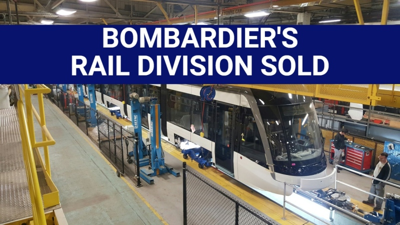 Bombardier's rail division sold