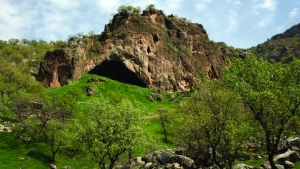 View of the entrance to Shanidar Cave. (Graeme Barker/Antiquity)