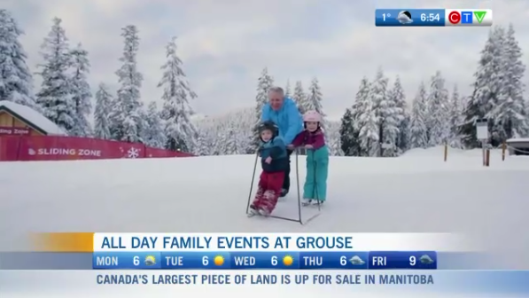 Family day at Grouse Mountain