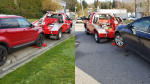 Two vehicles are shown in photos from the Burnaby RCMP.