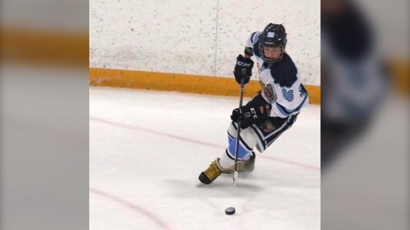 Mark Ramolla, who died in a snowmobile accident on Sun., Feb. 16, 2020, was part of the 2018 OMHA Champion AA PeeWee Barrie Colts. (Facebook)