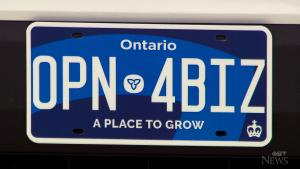 The Ontario government says they're investigating reports that their new licence plates are difficult to read at night.