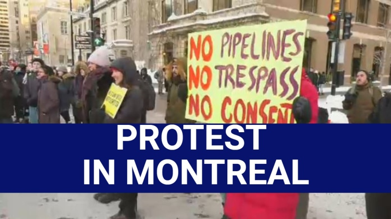 Protest on Sherbrooke St. supports Wet'suwet'en