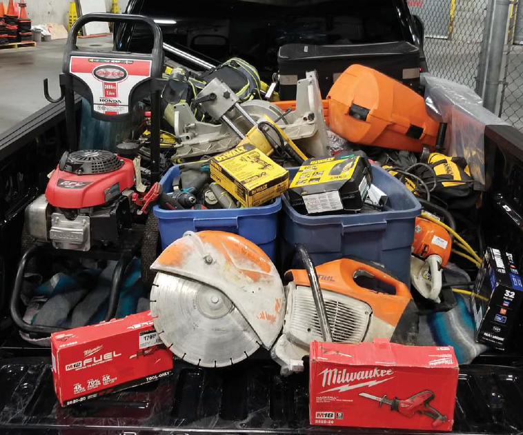 Mounties in Surrey say they've recovered over $80,000 worth of stolen goods. (RCMP handout)