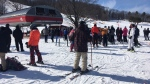 The slopes are busy on Family Day 2020. (Sean Grech/CTV News)