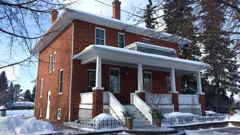 The century-old Smeltzer House, in Sherwood Park, opened its doors to the public on Family Day. Feb. 17, 2019. (John Hanson/CTV News Edmonton)