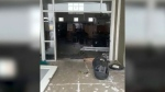 Thieves smash and grab empty ATM