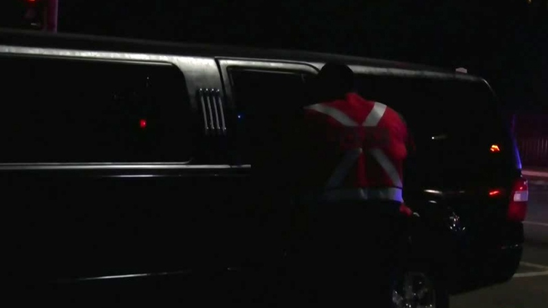 Limo rider in life-threatening condition
