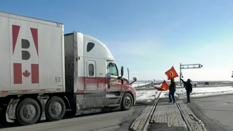 Another pipeline protest begins in Manitoba