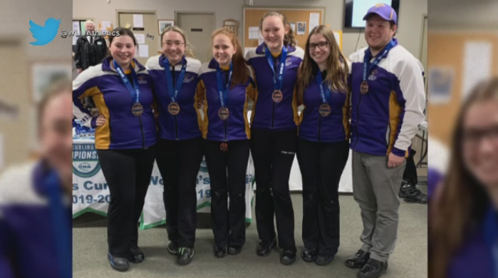WLU women's curling team wins bronze at the 2020 OUA Curling Championships in Guelph.